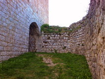 крепость в tesanj стоковое фото