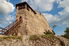 Крепость в Visegrad, Венгрии Стоковые Изображения RF