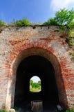 крепость кирпича старая стоковое изображение