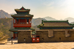 Крепость на Великой Китайской Стене Стоковая Фотография
