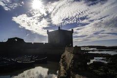 Крепость на побережье Марокко Стоковое Изображение RF