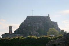 Крепость острова Корфу, Греция Стоковые Изображения RF
