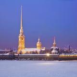 крепость Паыль peter Взгляд собора Андрюа апостола Россия Стоковая Фотография