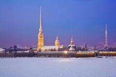 крепость Паыль peter Взгляд собора Андрюа апостола Россия Стоковые Изображения