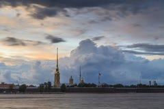 крепость Паыль peter Взгляд собора Андрюа апостола Стоковая Фотография