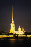 Крепость Питера и Паыля в Sankt-peterburg Стоковые Фотографии RF