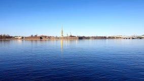 Крепость Питер и Пол в солнечности Санкт-Петербурге стоковая фотография rf