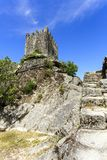 Крепость романск †Sortelha «средневековая Стоковое Изображение
