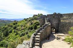 Крепость романск †Sortelha «средневековая Стоковая Фотография