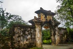 крепость старая Входной сигнал строба Оттенок, Вьетнам Стоковое Изображение RF