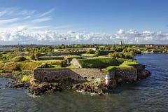 Крепость Суоменлинны морская на островах в гавани h стоковые фотографии rf