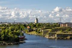 Крепость Суоменлинны морская на островах в гавани h стоковые изображения