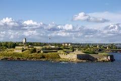 Крепость Суоменлинны морская на островах в гавани h стоковые фото