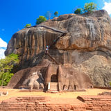 Крепость утеса Sigiriya, Шри-Ланка. Стоковые Изображения RF