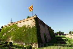 Крепость человеческий замок de Montjuic Барселоны Стоковая Фотография
