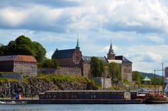 Крепость Akershus Festning в Осло, Норвегии Стоковые Изображения