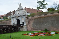 Крепость Alba Каролина, Трансильвания, Румыния Стоковое Фото