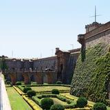 крепость barcelona стоковые изображения