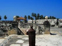 крепость cartagena Колумбии стоковое фото