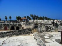 крепость cartagena Колумбии стоковое изображение