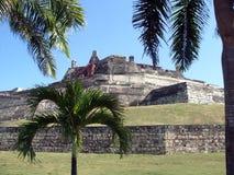 крепость cartagena Колумбии стоковые фото