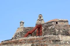 Крепость Castillo San Felipe в Cartagena, Колумбии Стоковые Фотографии RF