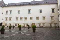 Крепость Fagaras - внутренний двор Стоковое фото RF