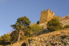 крепость fortifiaction консула замока genoese Стоковые Фотографии RF