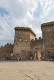 крепость fortifiaction консула замока genoese Стоковые Изображения RF