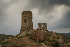 крепость fortifiaction консула замока genoese Стоковое фото RF