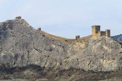 крепость fortifiaction консула замока genoese Sudak Крым Стоковые Фото
