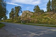 Крепость Fredriksten (золотистый форт льва) Стоковые Фото