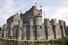 крепость ghent стоковые изображения rf