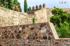 Крепость Gibralfaro Малаги, Косты del Sol, Андалусии, Испании стоковые изображения