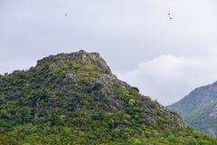 Крепость Haj-Nehaj над Sutomore, Черногорией Стоковое Изображение