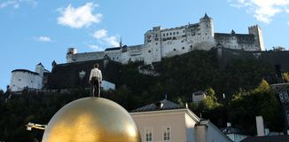 Крепость Hohensalzburg, Зальцбург Австрия Стоковые Изображения RF