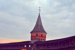Крепость Kamianets-Podilskyi Стоковое Изображение RF