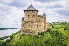 Крепость Khotyn в Украине Стоковые Изображения RF