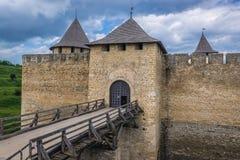 Крепость Khotyn в Украине Стоковое фото RF