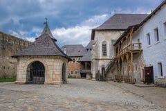 Крепость Khotyn в Украине Стоковые Фото