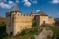 Крепость Khotyn на солнечный день Украина стоковые фото