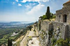 Крепость Klis вне города разделения в Далмации Хорватии стоковое фото rf