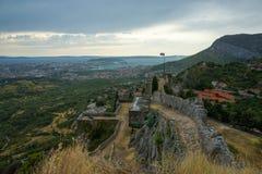 Крепость Klis Хорватии Стоковое Изображение RF