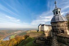 Крепость Koenigstein, Германия Стоковые Изображения RF