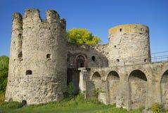 Крепость Koporskaya Башня моста и строба Стоковые Фото