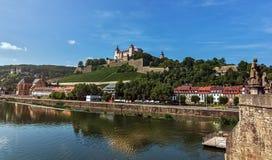 Крепость Marienberg - Wurzburg - Германия Стоковые Изображения RF
