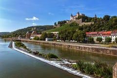 Крепость Marienberg - Wurzburg - Германия Стоковая Фотография RF