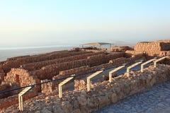 Крепость Masada кладоваь сложная стоковые изображения