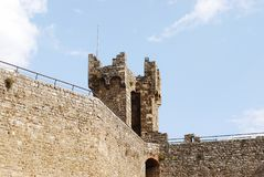 Крепость Montalcino Стоковые Фотографии RF