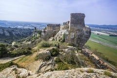 Крепость Mornas, Франция стоковые изображения rf